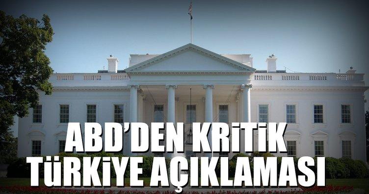 Son dakika: ABD'den kritik Türkiye açıklaması