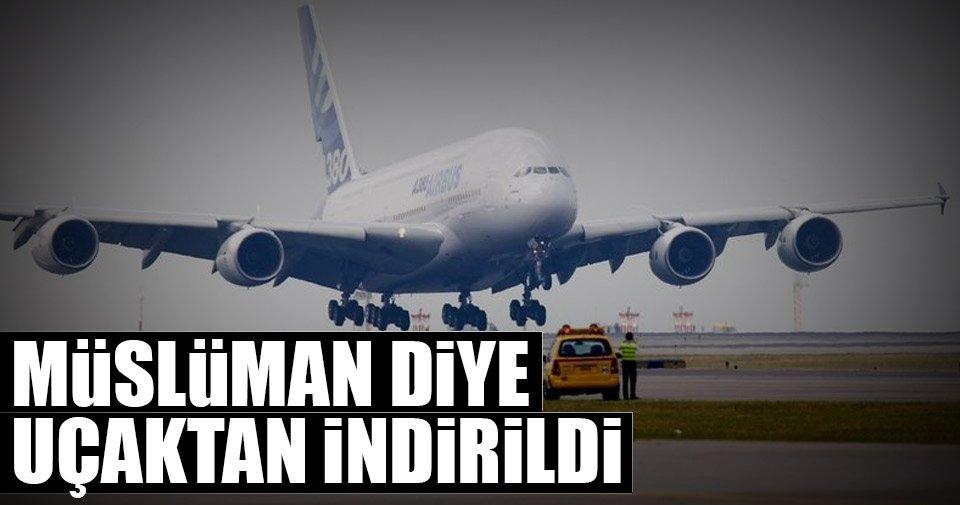 Müslüman İngiliz ABD'ye giden uçaktan indirildi