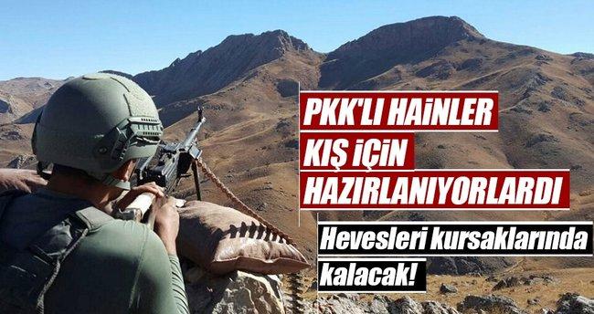 PKK'lı hainlere ağır darbe!