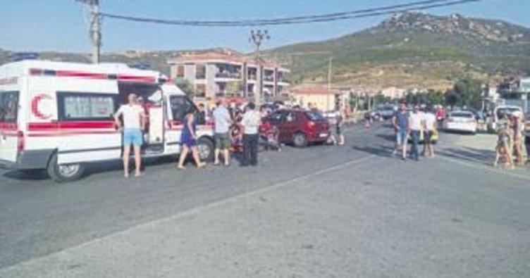 Foça'da kaza: 1 ölü, 2 yaralı