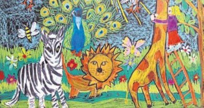 Çocuklar Doğal Yaşamı resmetti