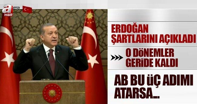 Son dakika... Erdoğan'dan AB'ye önemli mesaj: Tek taraflı adım atma dönemi bitti