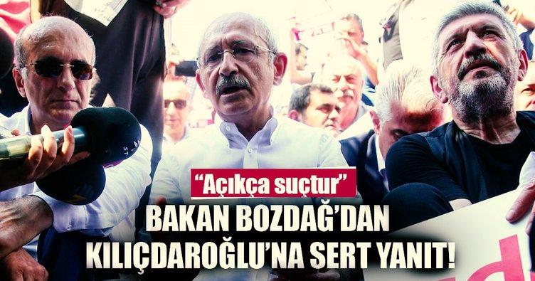 Bakan Bozdağ'dan Kılıçdaroğlu'nun 'Adalet Yürüyüşü'ne ilişkin açıklama