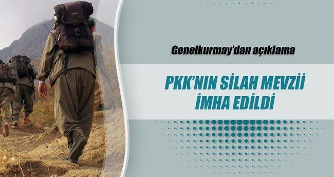 Yüksekova'da PKK'nın silah mevzii imha edildi