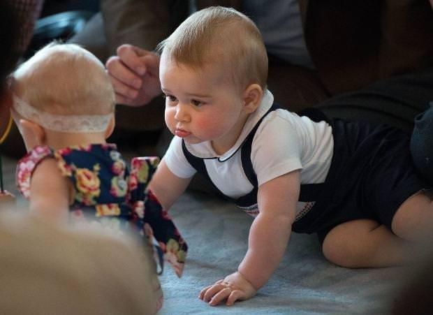 Prens George'un ilk resmi kabulü