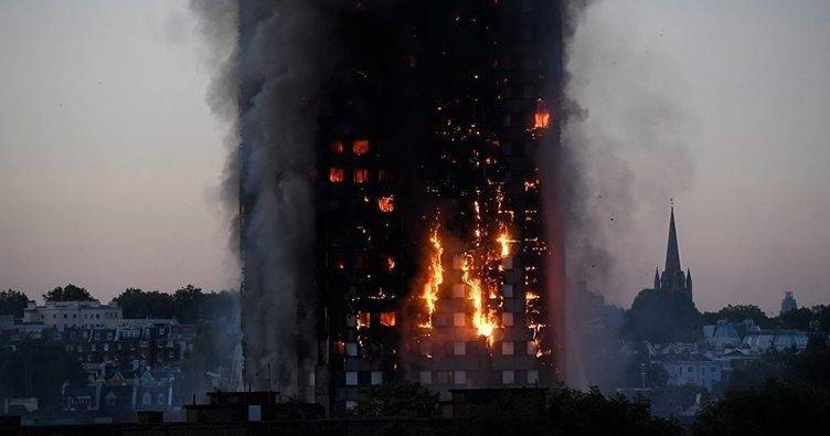 Londra'da 24 katlı binadaki yangın