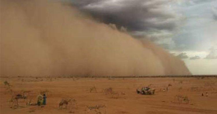 Sudan'da kum fırtınası!