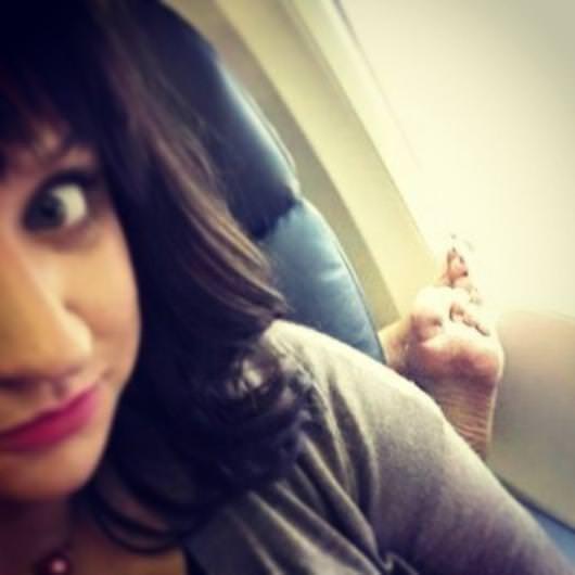Uçak yolculuklarından garip kareler