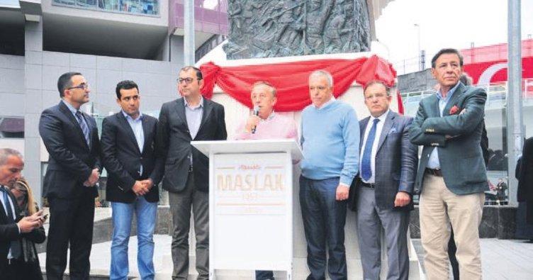Ağaoğlu, Atatürk heykelinin açılışını yaptı