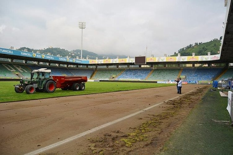 Vodafone Arena'dan sonra sıra Rize'nin stadında