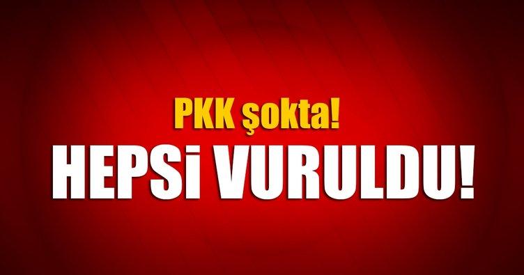 PKK'ya ait 8 hedef vuruldu