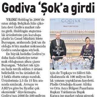 Godiva 'Şok'a girdi