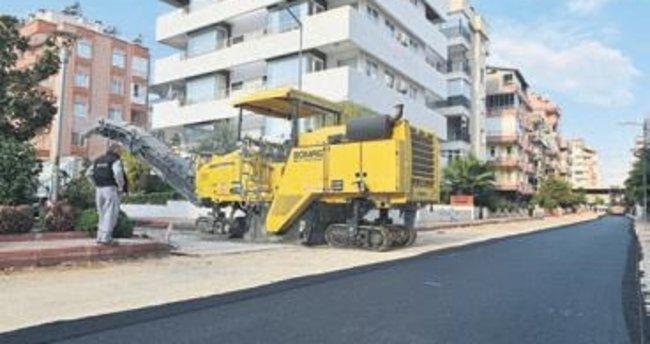 Konyaaltı'nda asfalt çalışması