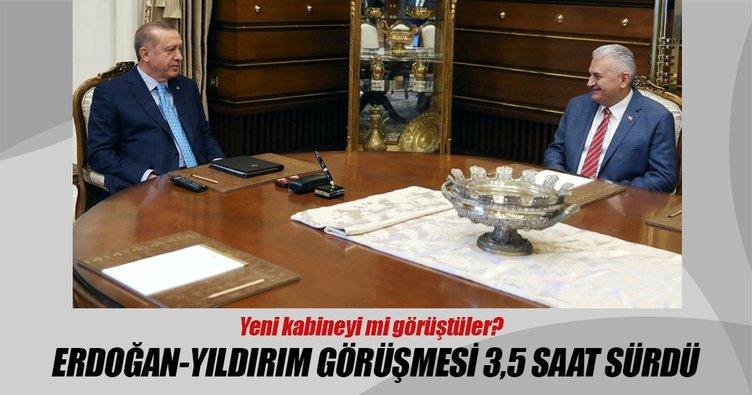 Erdoğan-Yıldırım görüşmesi 3,5 saat sürdü