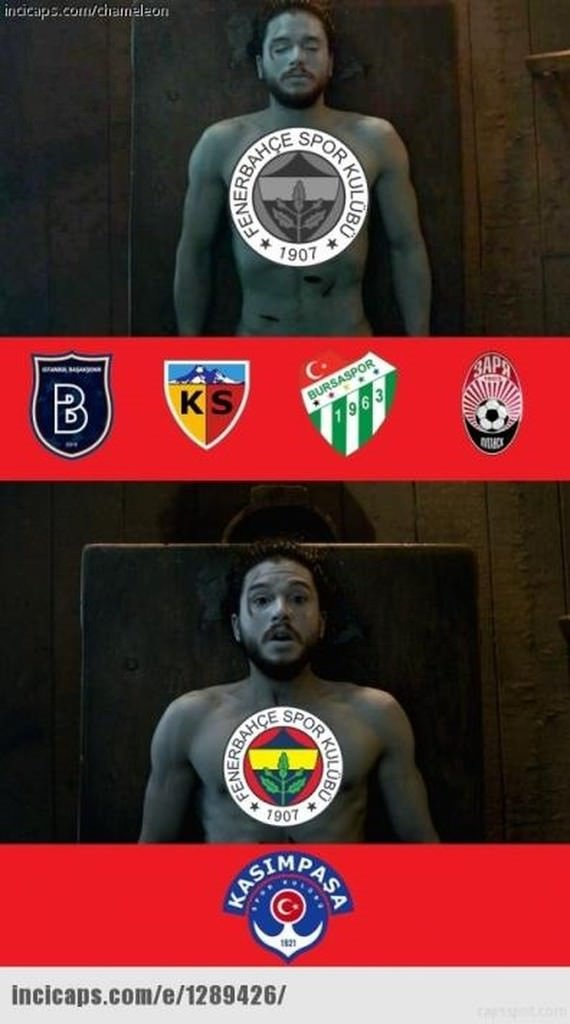 Kasımpaşa - Fenerbahçe maçı capsleri