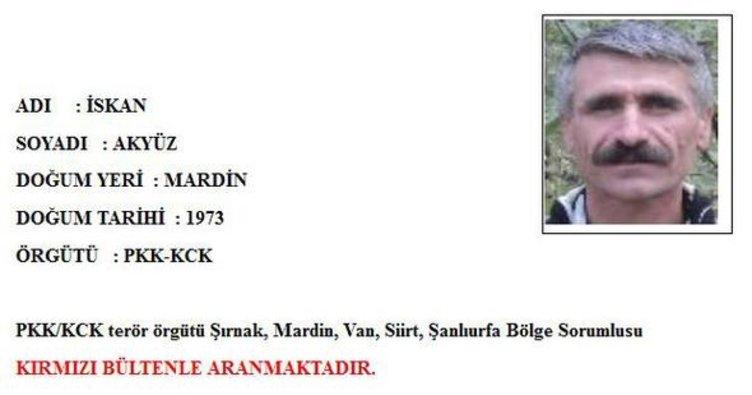 Şırnak'ta öldürülen teröristlerden biri İskan Akyüz adlı hainin doktoru çıktı