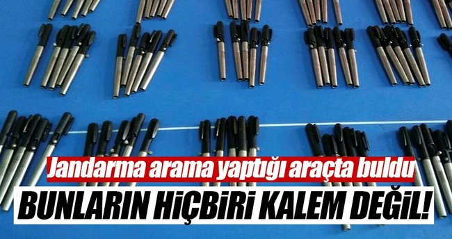 Konya'da jandarmadan suikast tipi kalem tabanca operasyonu