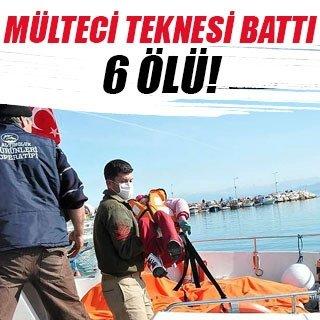 Didim açıklarında kaçak teknesi battı, 6 ölü, 3 kayıp
