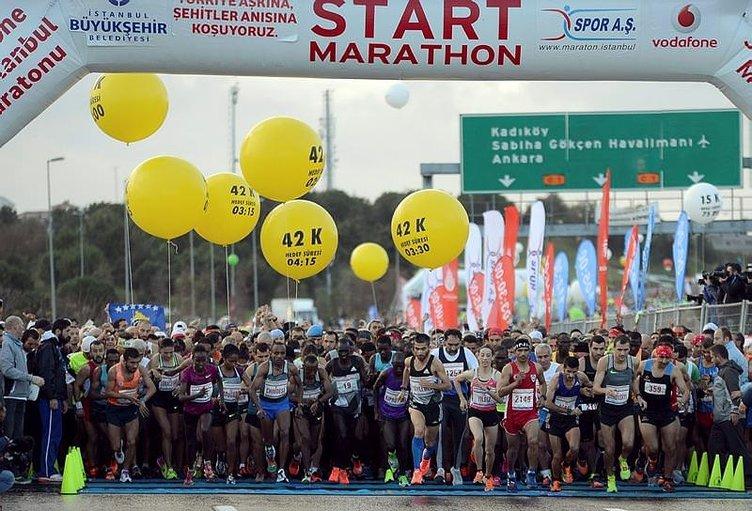 Vodafone 38. İstanbul Maratonu'ndan kareler