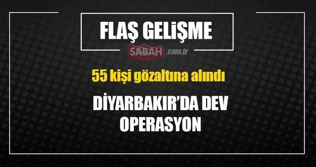 Diyarbakır'da 55 gözaltı!