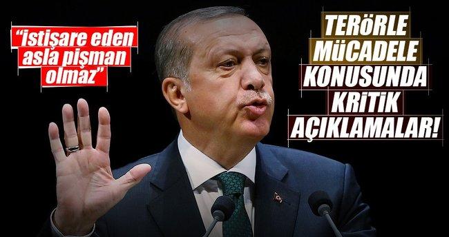 Cumhurbaşkanı Erdoğan'dan terörle mücadele işbirliği çağrısı!