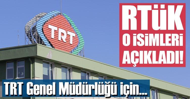 RTÜK TRT için 3 ismi belirledi
