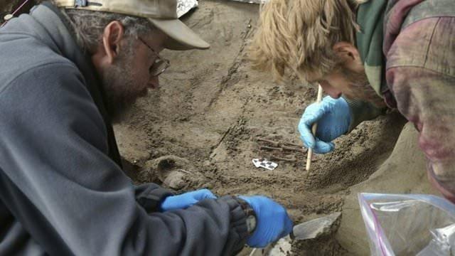 Buz Devri'nin bebek mezarı!