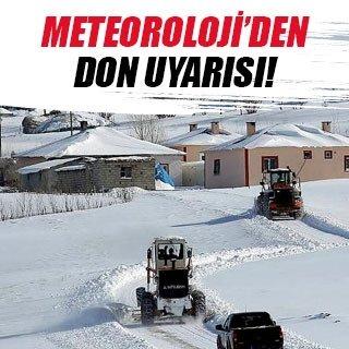 Meteoroloji'den buzlanma uyarısı!