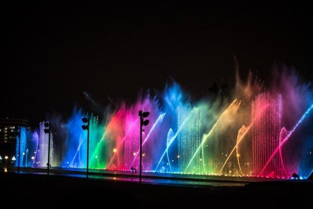 Peru'daki Magic Water Circuit Su Parkı