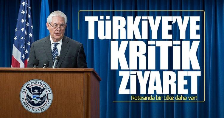 ABD Dışişleri Bakanı Tillerson önümüzdeki hafta Türkiye'ye gelecek