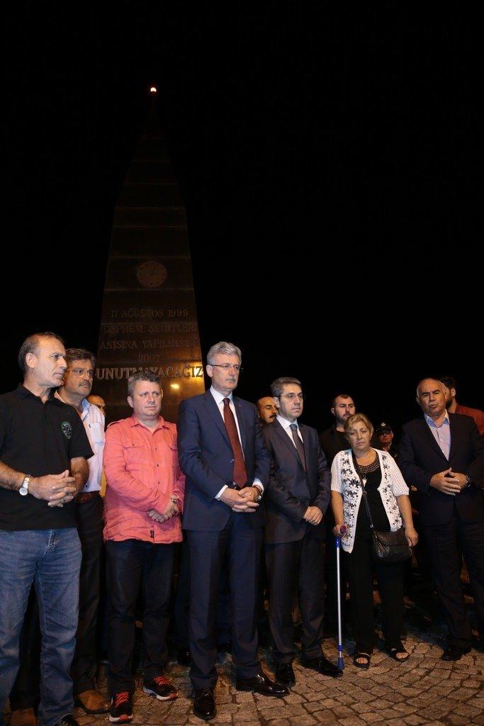 17 Ağustos depreminin kurbanları anıldı