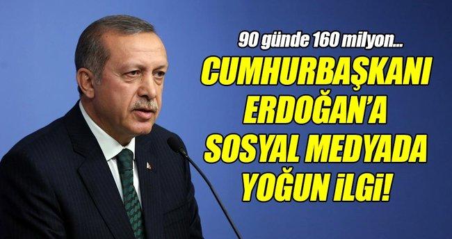 Cumhurbaşkanı Erdoğan'a twitter'da yoğun ilgi!