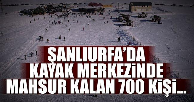 Karacadağ Kayak Merkezi'de mahsur kalan 700 kişi kurtarıldı!