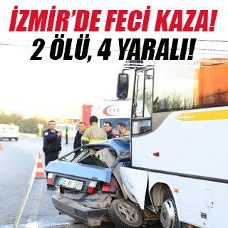 Otomobil midibüsün altına girdi: 2 ölü, 4 yaralı