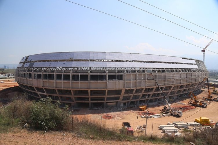 Pişmaniye görünümlü Kocaeli Arena Stadı