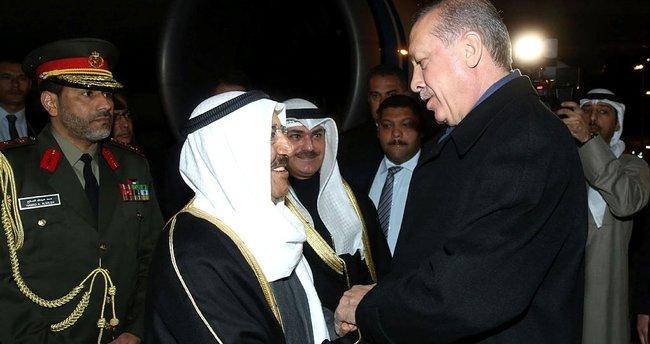 Cumhurbaşkanı Erdoğan'dan Kuveyt Emiri el Sabah'a jest!