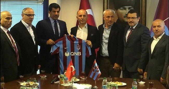 Katar Büyükelçisi'nden Trabzonspor'a ziyaret