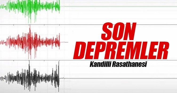 Son depremler panik yaratıyor! - İşte İstanbul ve İzmir'i sarsan deprem sonrası son yaşanan depremler