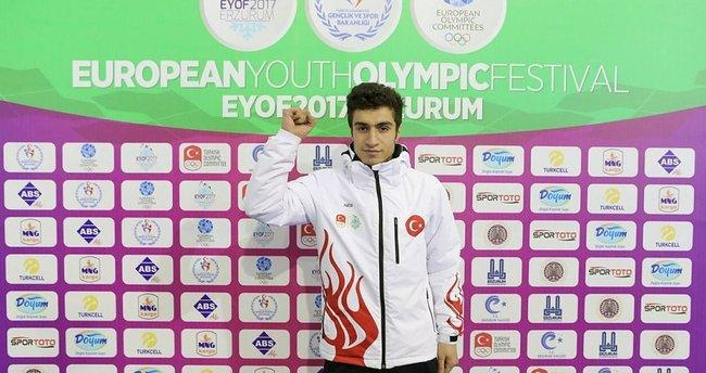 EYOF 2017'de Hazar Karagöl gümüş madalya kazandı