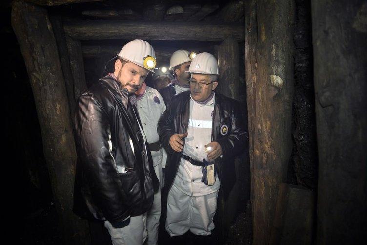 Bakan Albayrak yılbaşını madencilerle geçirdi