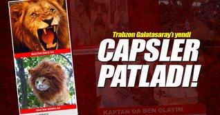 Galatasaray - Trabzonspor maçı capsleri sosyal medyayı salladı