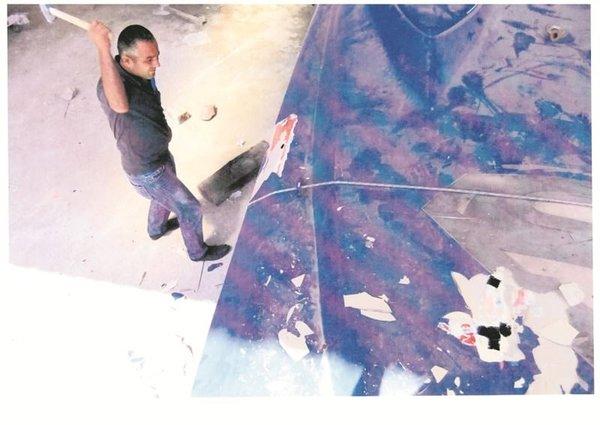 Ali Ağaoğlu tekneyi paramparça ettirdi
