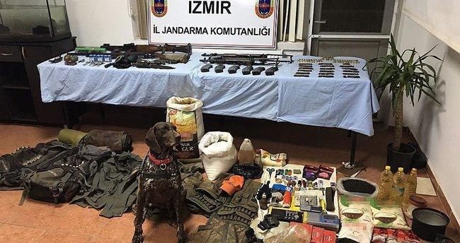 İzmir'de PKK'ya ait depo ve sığınaklar bulundu
