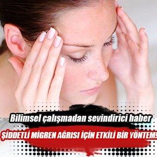 Şiddetli migren ağrısı için etkili bir yöntem!