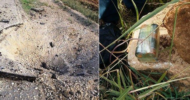 Derik'te PKK'lıların yola döşediği patlayıcı kontrollü bir şekilde patlatıldı
