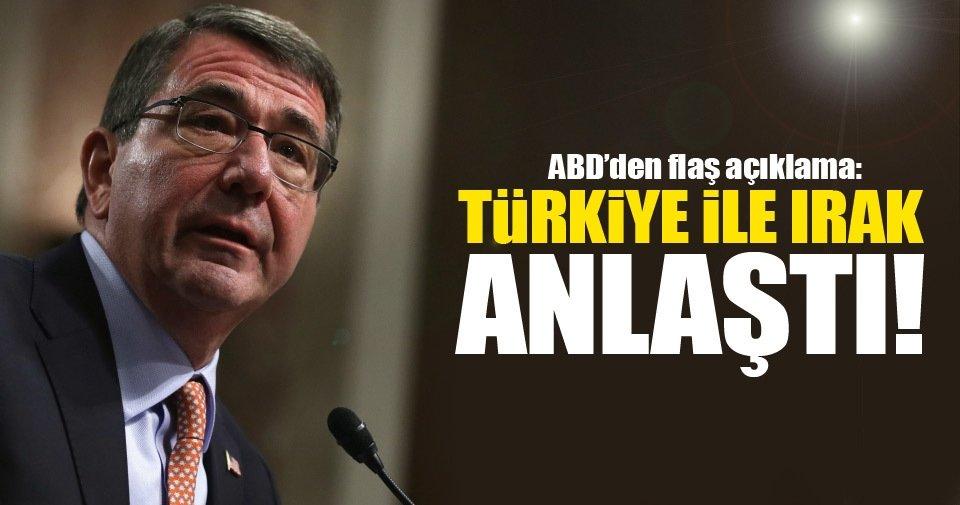 Türkiye ile Irak anlaştı!