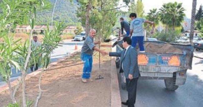 Başkan Gül kavşak çalışmasını inceledi