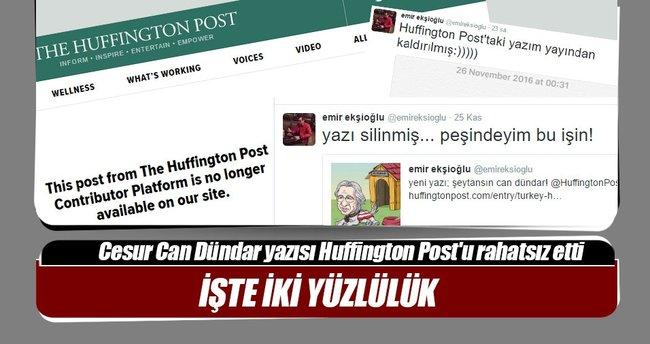 Huffington Post'un iki yüzlülüğü