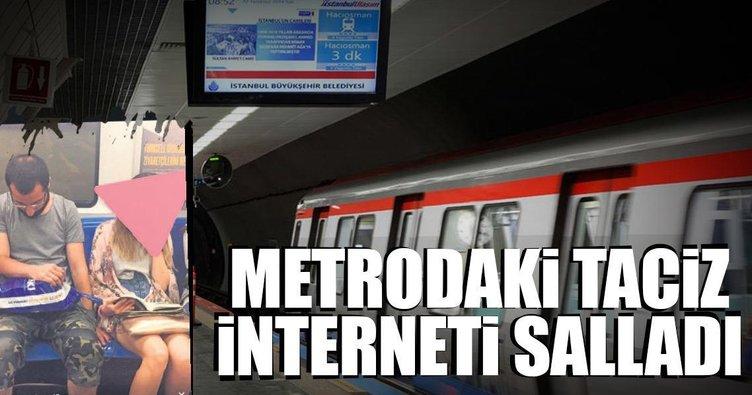 Metrodaki taciz interneti salladı