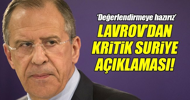 Lavrov'dan kritik Suriye açıklaması!